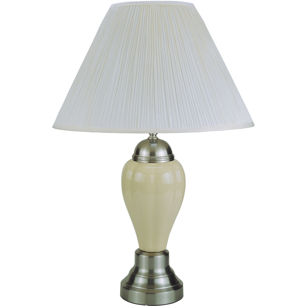 """27"""" Ceramic Table Lamp - Silver/ Ivory. Picture 1"""