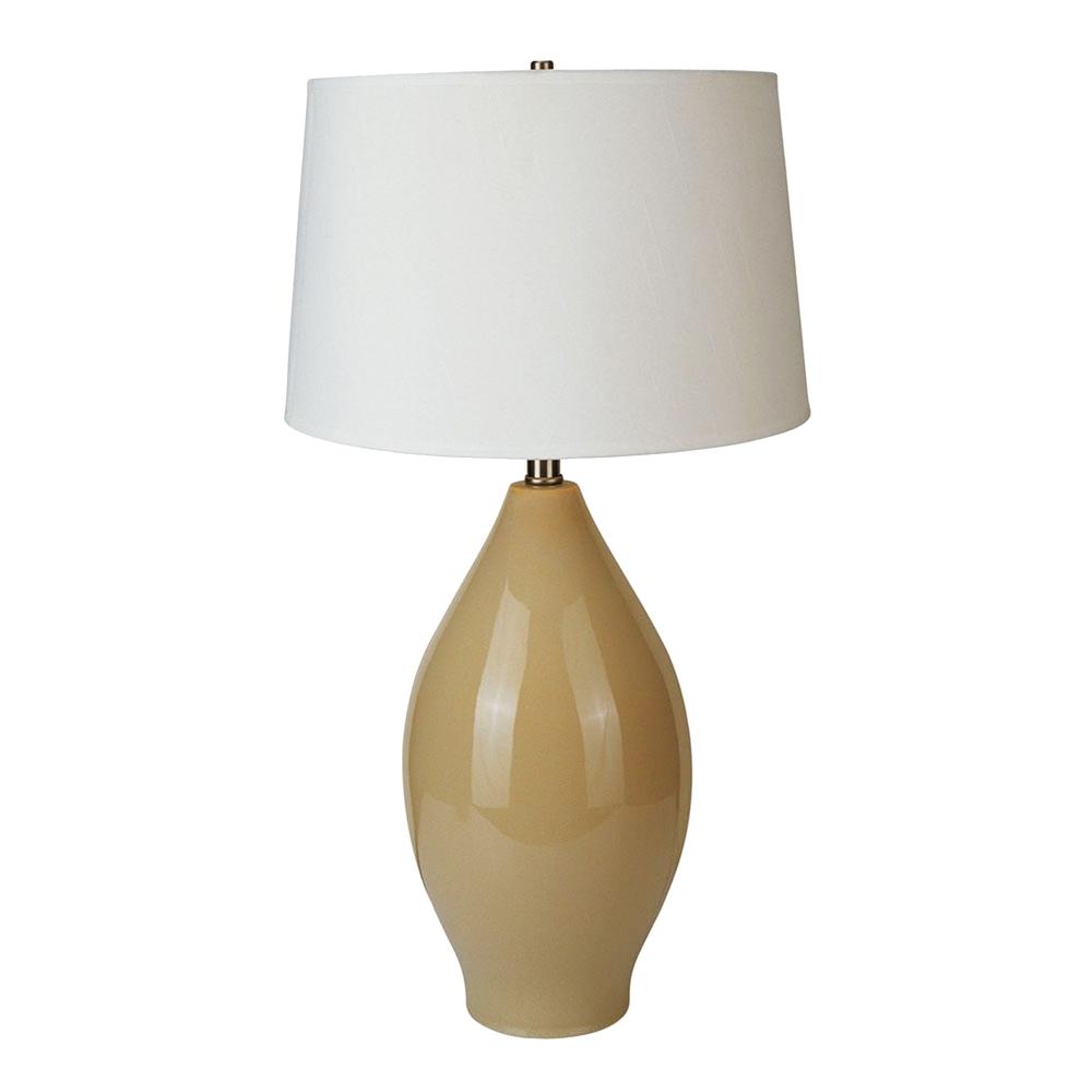 """28"""" Ceramic Table Lamp - Beige. Picture 1"""