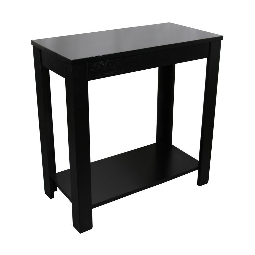 "24""H Black Chairside Table. Picture 1"