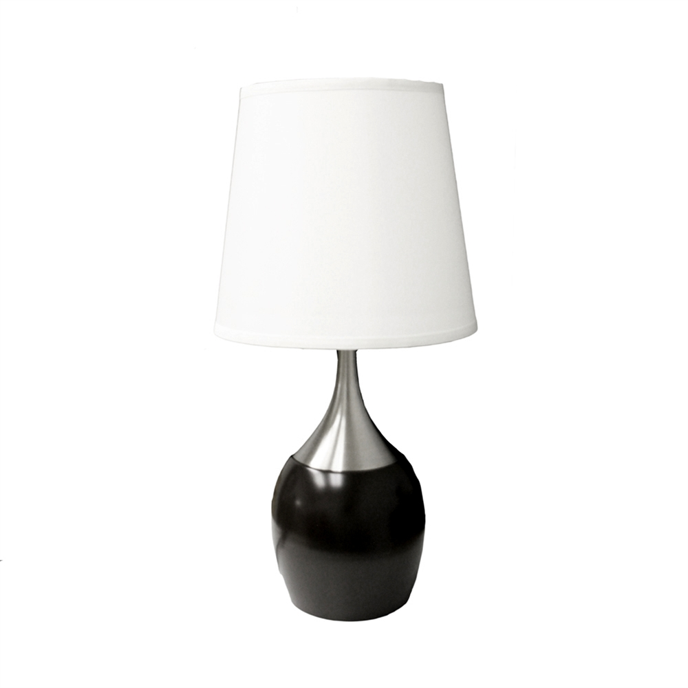 """24""""H Espresso/Silver Touch-On Table Lamp. Picture 1"""