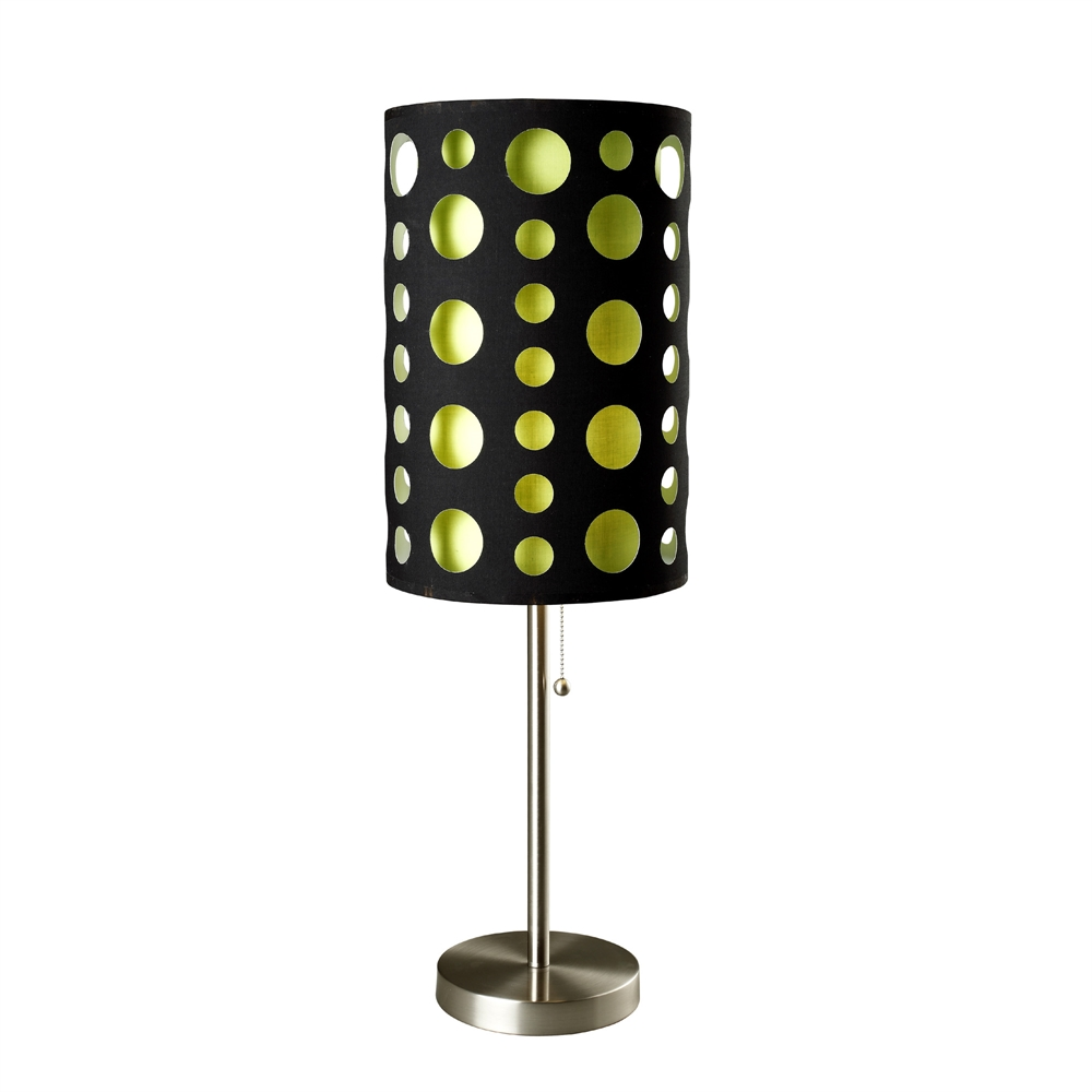 """33""""H Modern Retro Black-Green Table Lamp. Picture 1"""