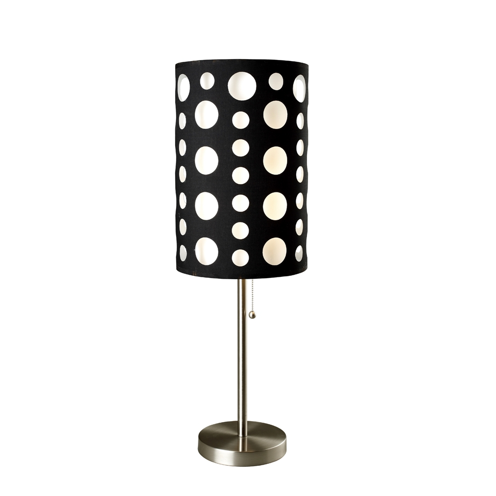 "33""H Modern Retro Black-White Table Lamp. Picture 1"