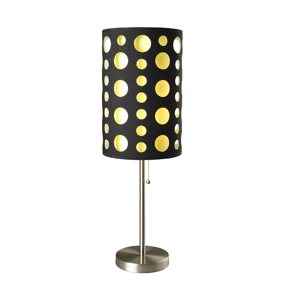 "66""H Modern Retro Black-Yellow Table Lamp. Picture 1"