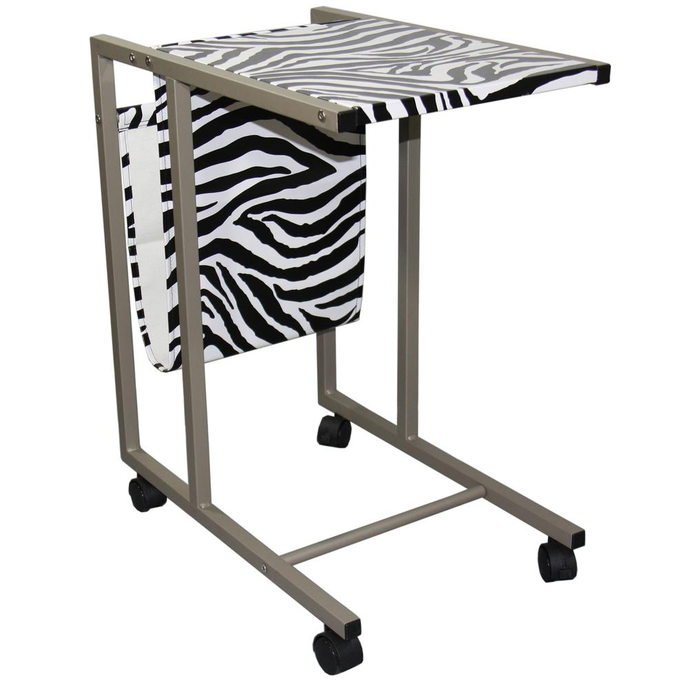 24 25 Quot H Laptop Cart Zebra Print
