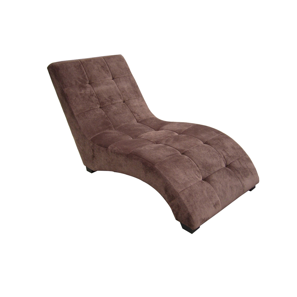 Modern brown chaise for Aico trevi leather armless chaise in brown