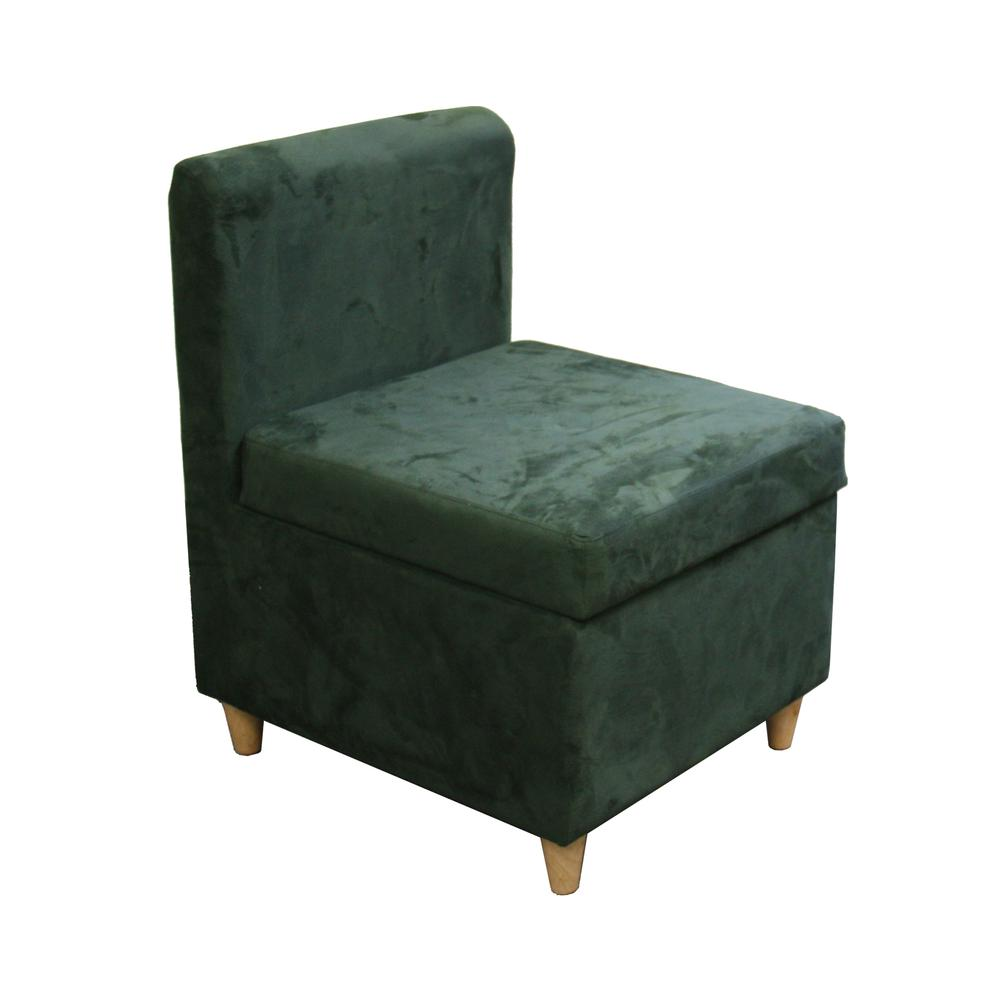 """28.5""""H Accent Chair With Storage ( Dove Green ). Picture 1"""