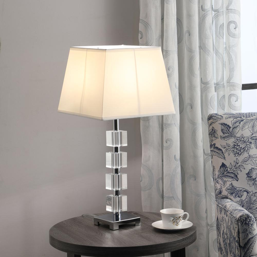 "25"" In Wendi Glam Crystal Cube Ice Table Lamp. Picture 3"