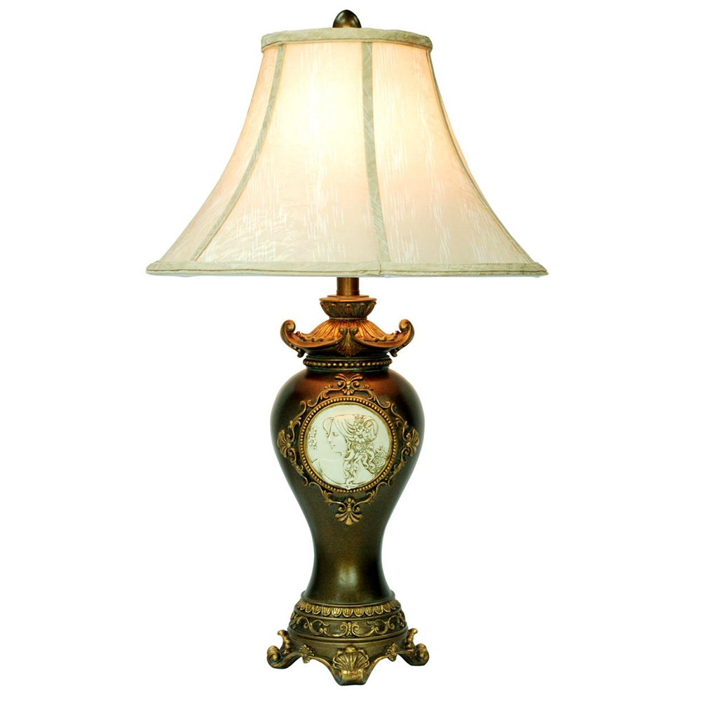 "29""H Handcrafted Bronze Table Lamp. Picture 1"
