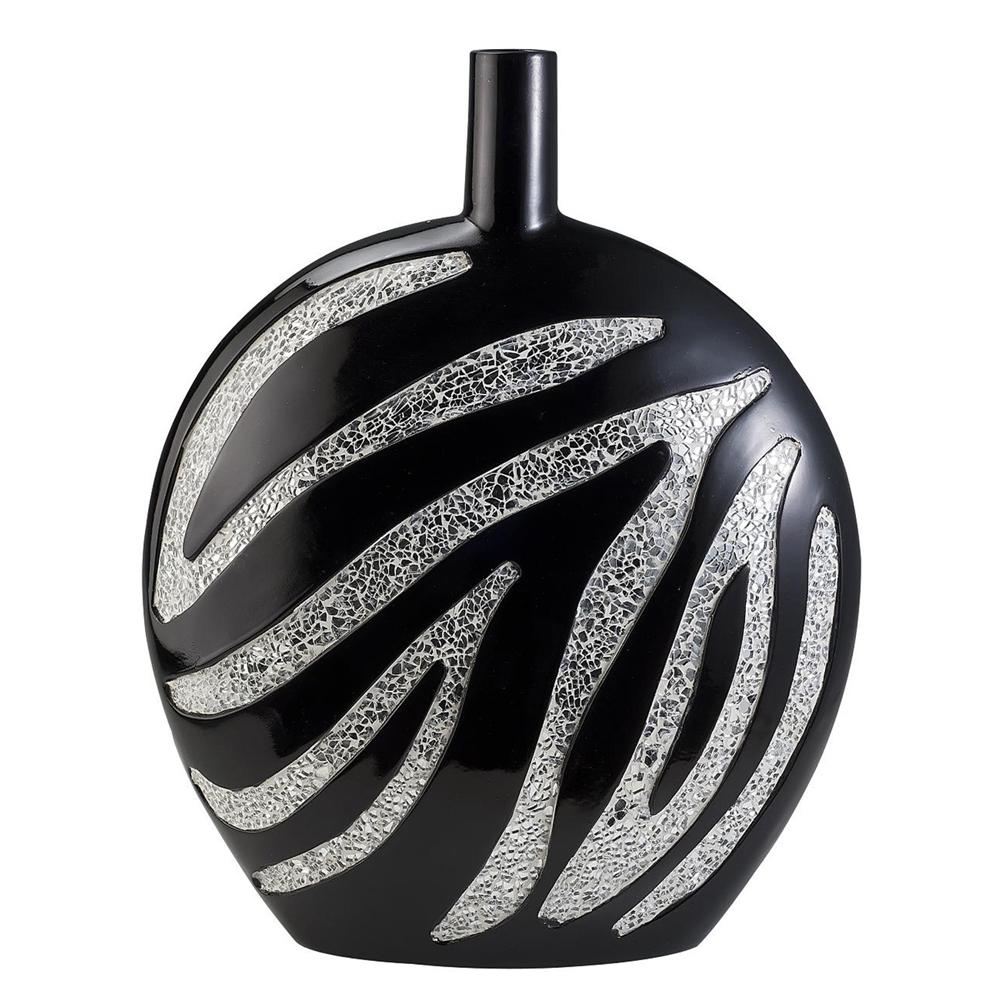 "18""H Zebra Decorative Vase. Picture 1"