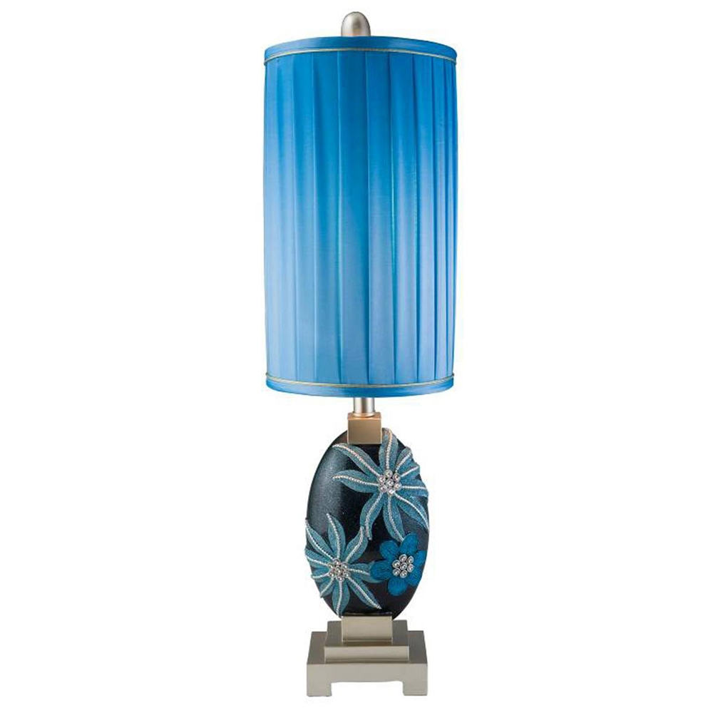 31''H Aqua Demeter Table Lamp. Picture 1
