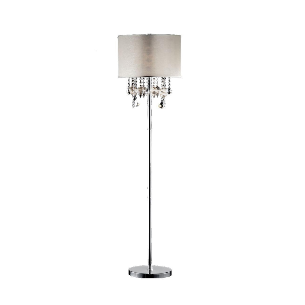 """60""""H Drape Crystal Floor Lamp. Picture 1"""