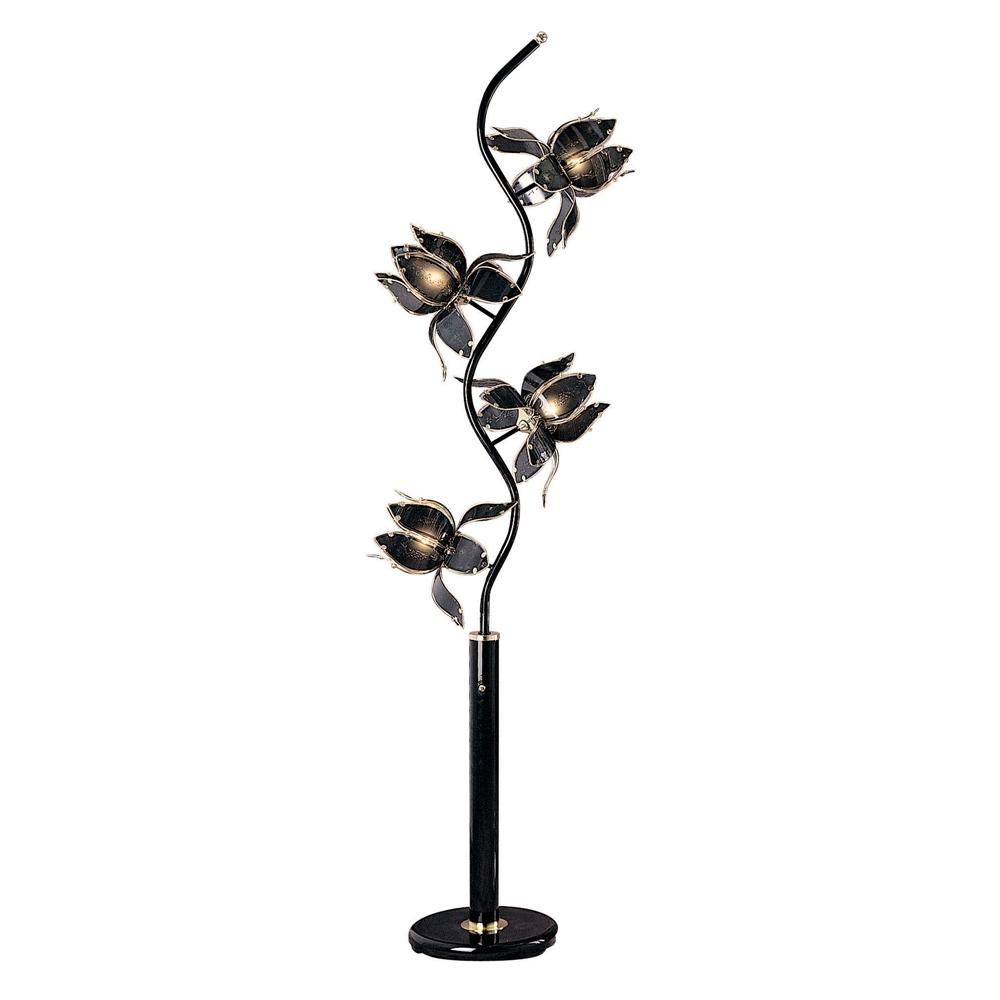 """73""""H Black Floor Lamp. Picture 1"""