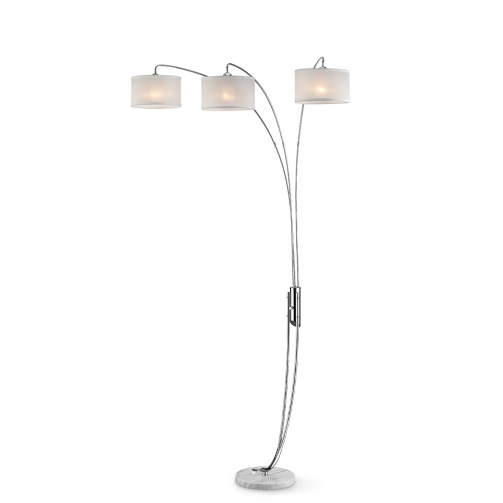 """85""""H Silver Polished Arch Floorlamp. Picture 1"""