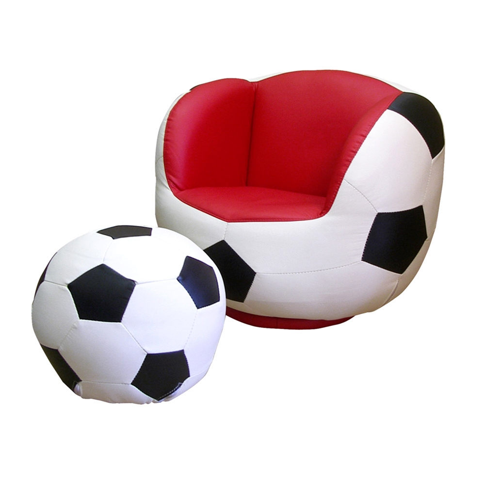 Soccer Chair & Ottoman Set. Picture 1