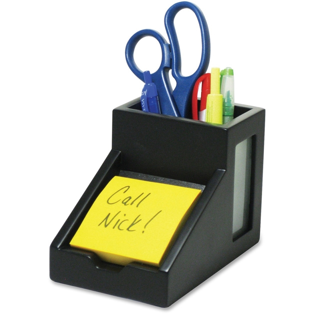 Victor Midnight Black Pencil Cup With Note Holder 4 4 Quot X
