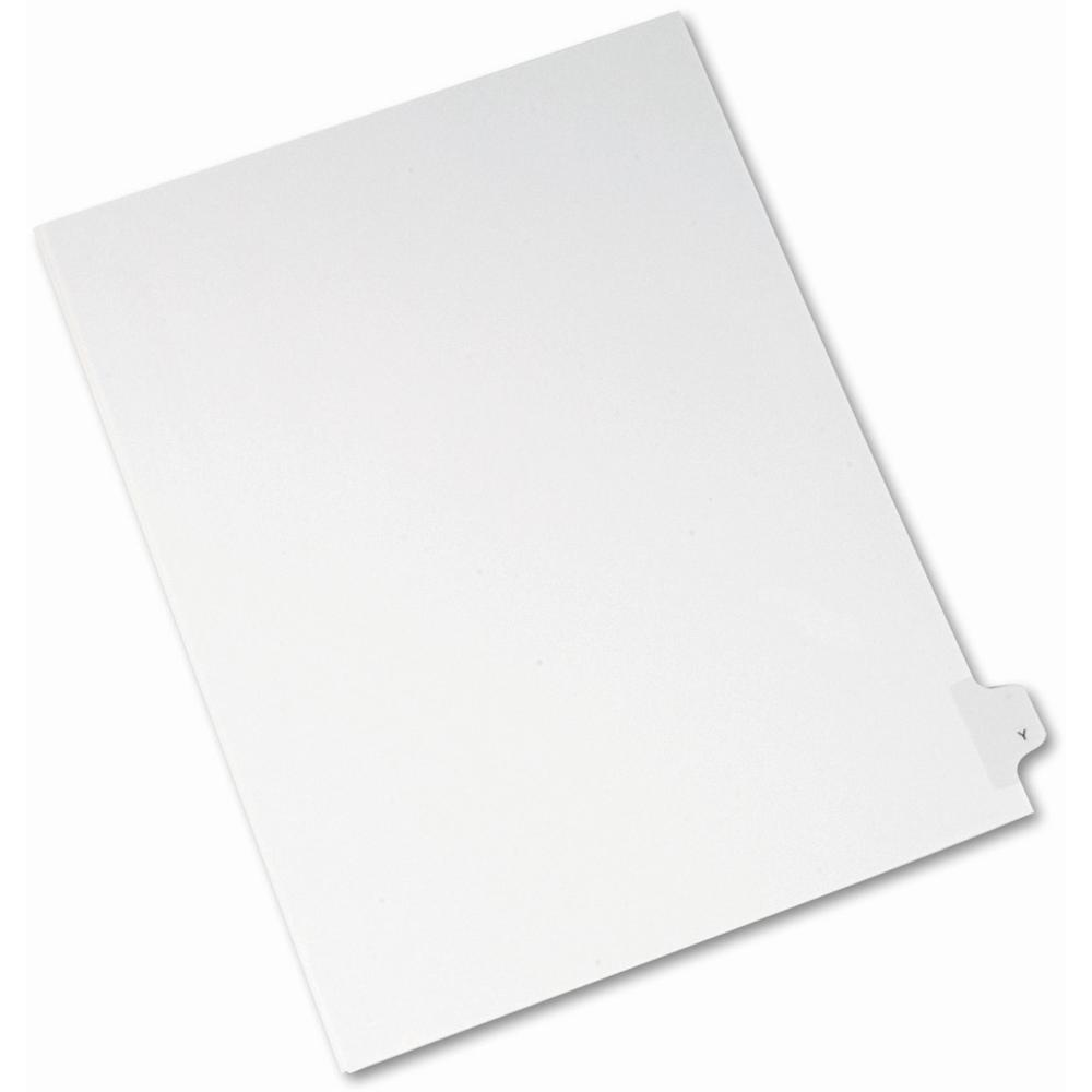 """Avery® Side Tab Individual Legal Dividers - 25 x Divider(s) - Side Tab(s) - Y - 1 Tab(s)/Set - Letter - 8 1/2"""" Width x 11"""" Length - White Paper Divider - 1. Picture 1"""