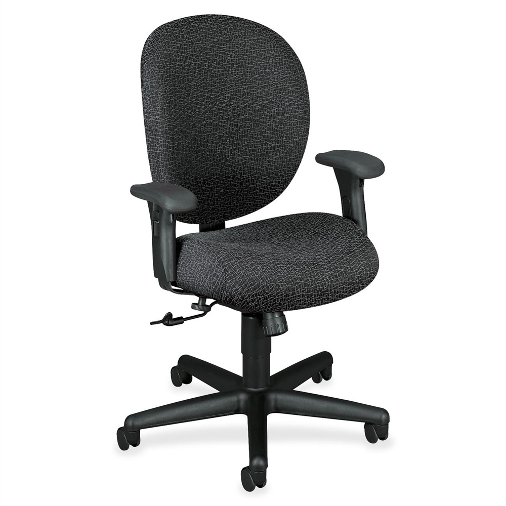 HON Unanimous 7624 24 Hour Mid Back Chair Polyester Iron Seat Acrylic Ba