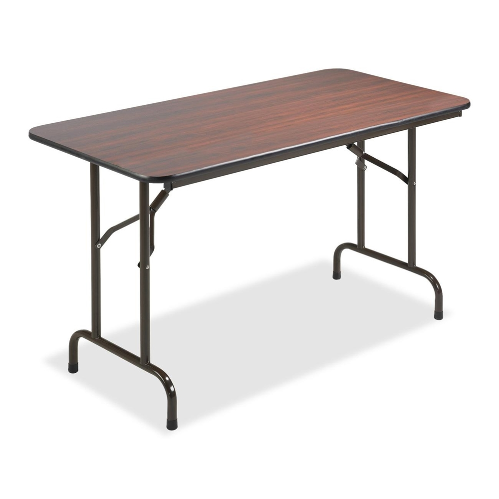Lorell economy folding table rectangle top 48 table for Table cuisine retractable