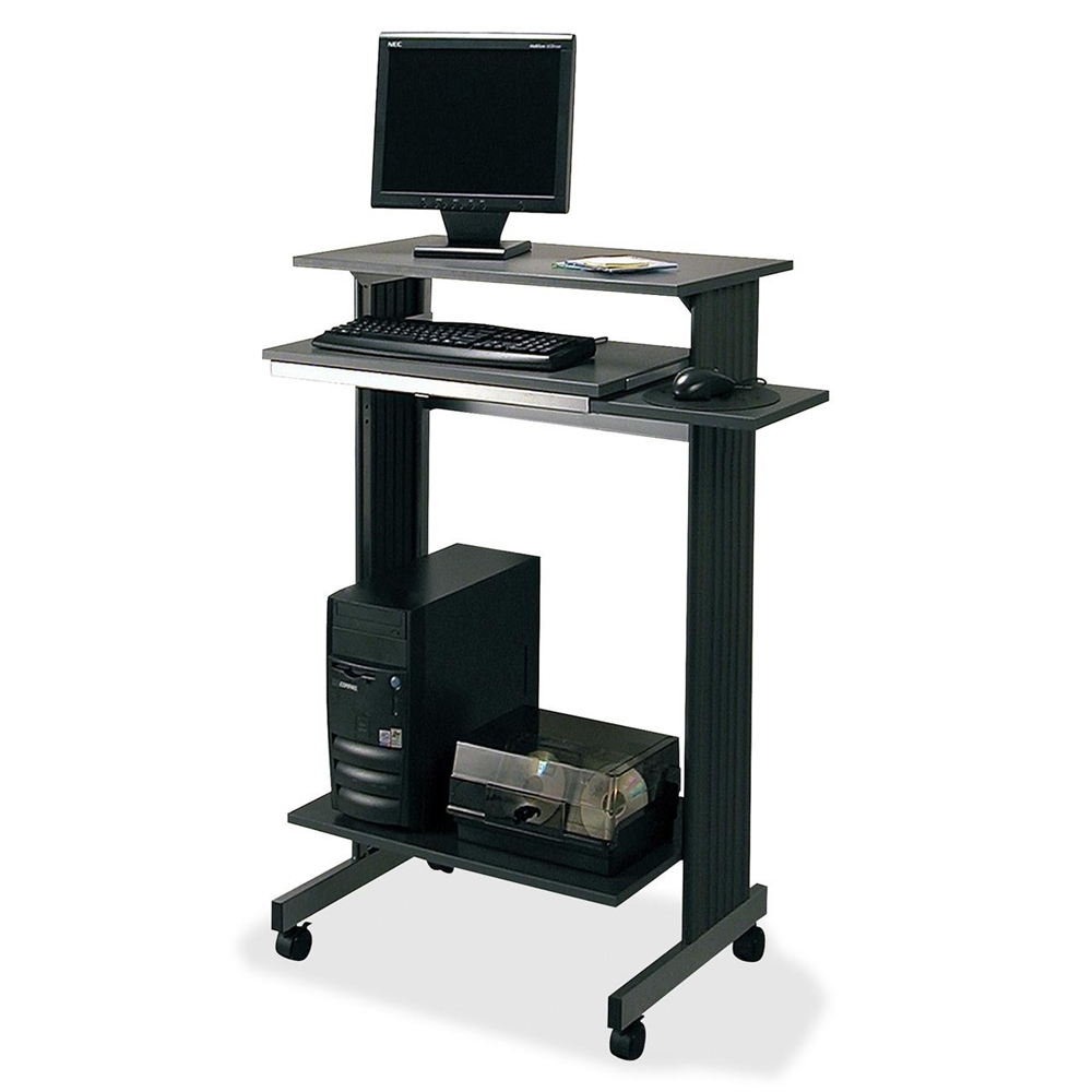 Buddy euroflex stand up height fixed workstation for Best workstation table