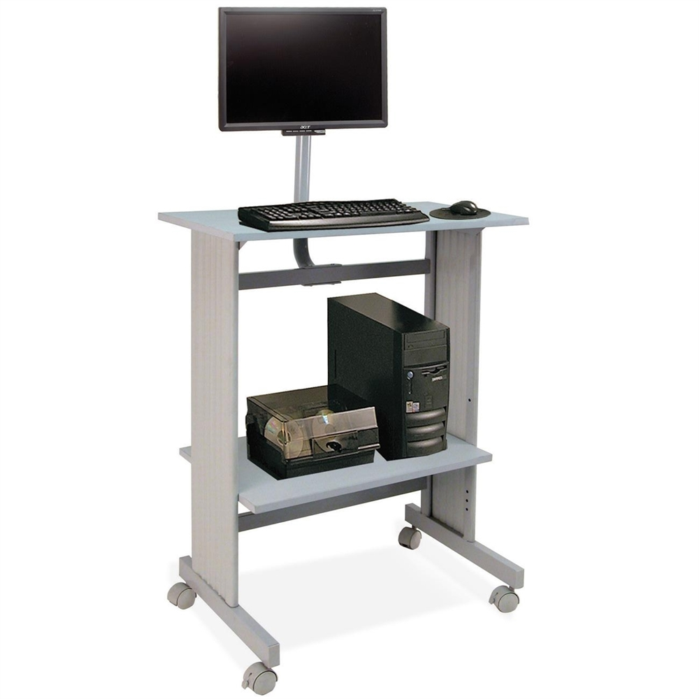Buddy Stand Up Height Work Station With Lcd Mount