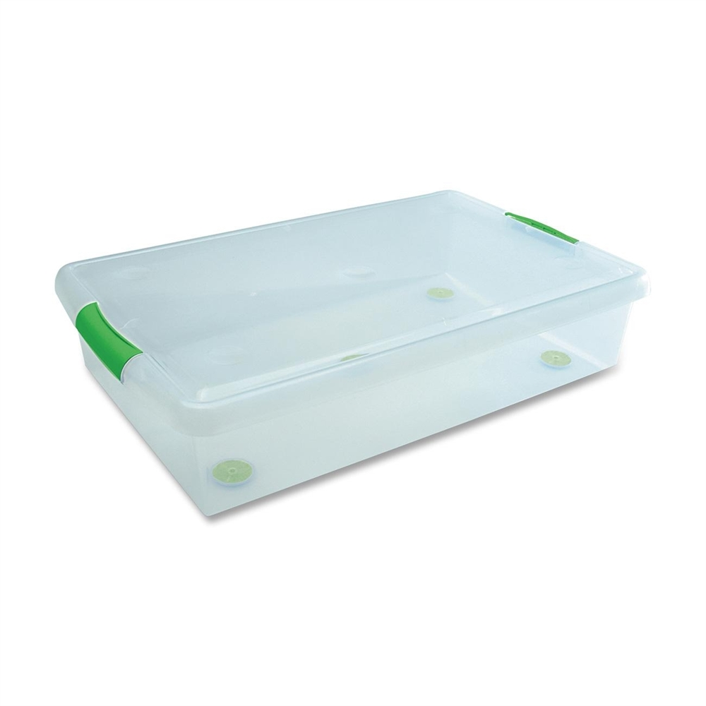 I R I S Stor N Slide Plastic Stackable 40 Qt Box