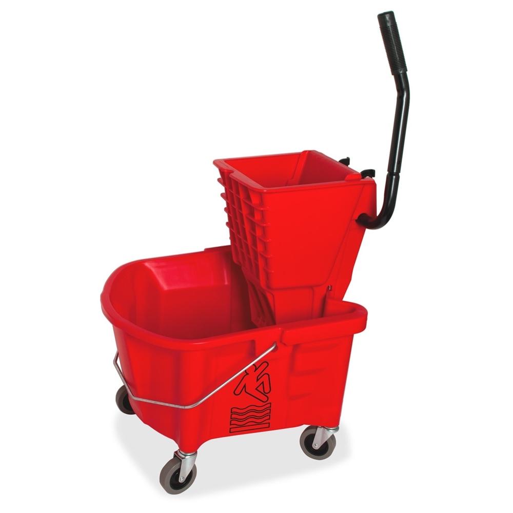 Genuine Joe Steel Handle Mop Bucket Wringer Combo 26