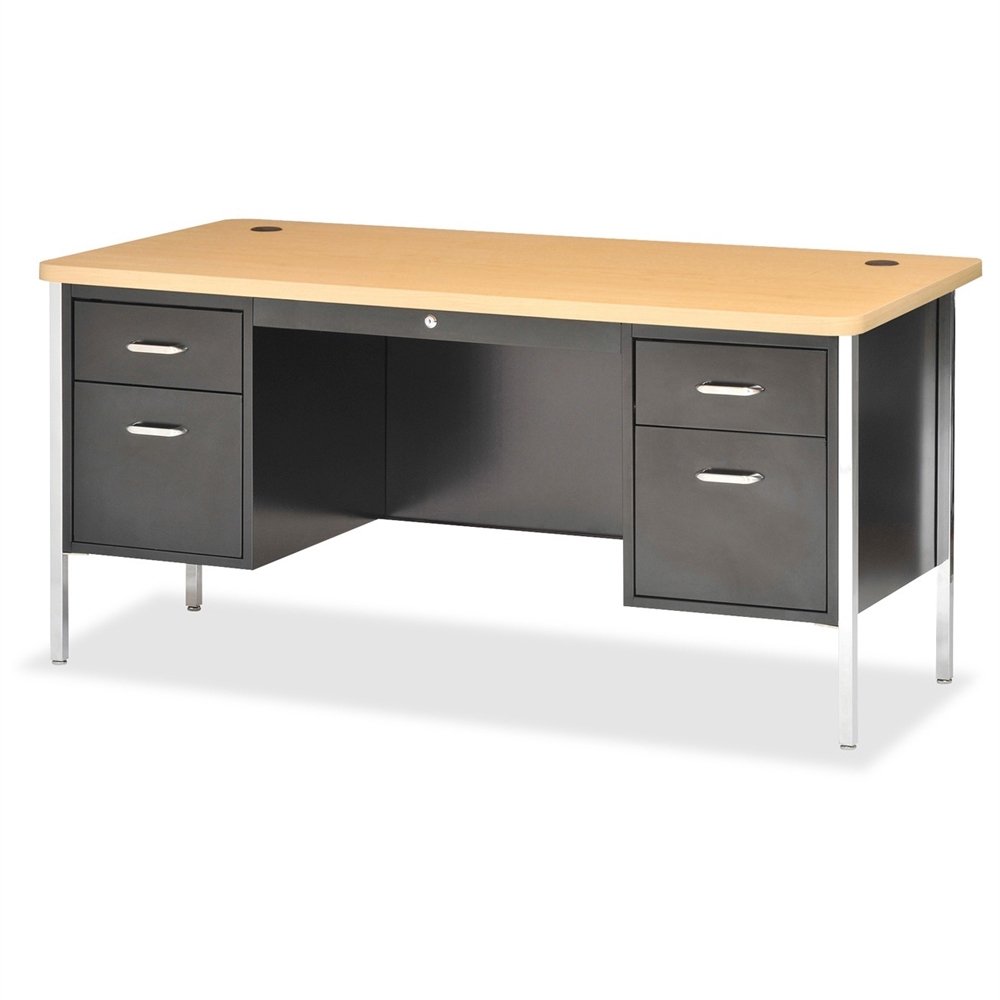 Lorell Fortress Series Double Ped Teacher S Desk 4
