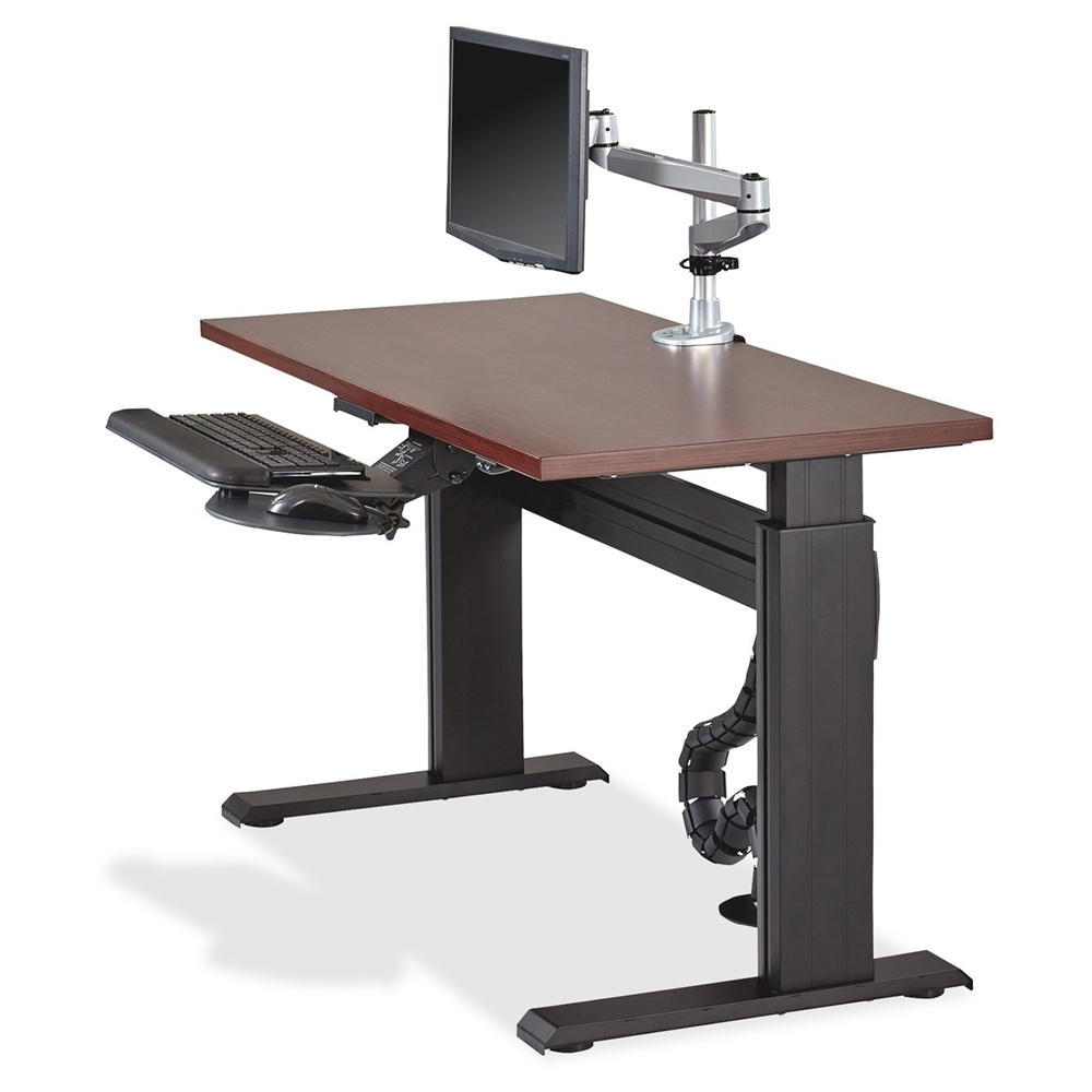 Lorell Height Adjustable Workstation Tabletop Mahogany