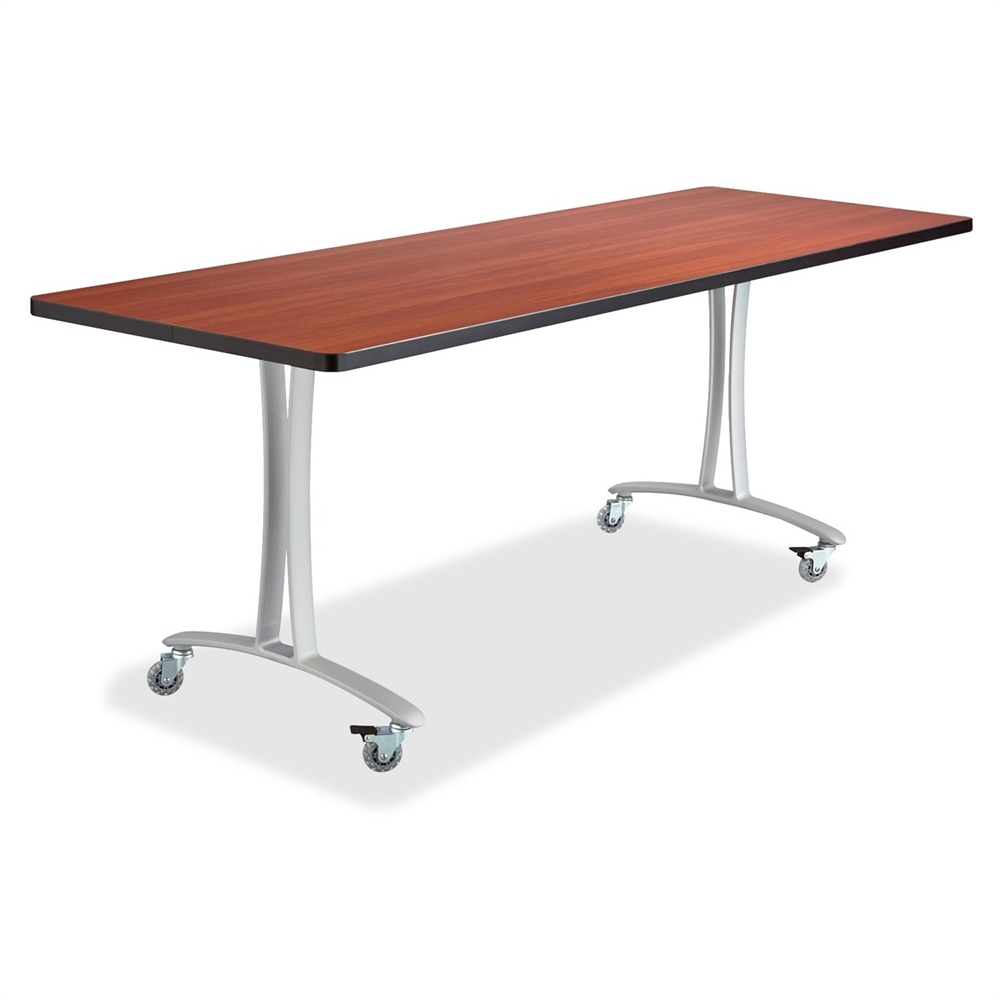 Cherry Rumba Training Table W Tlegs Rectangle Top Tshaped - T base table legs