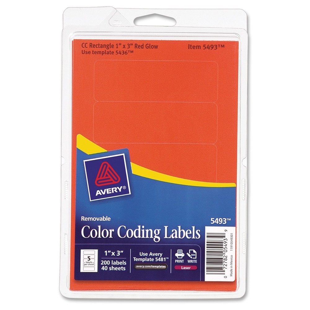 Avery Color Coding Multipurpose Label