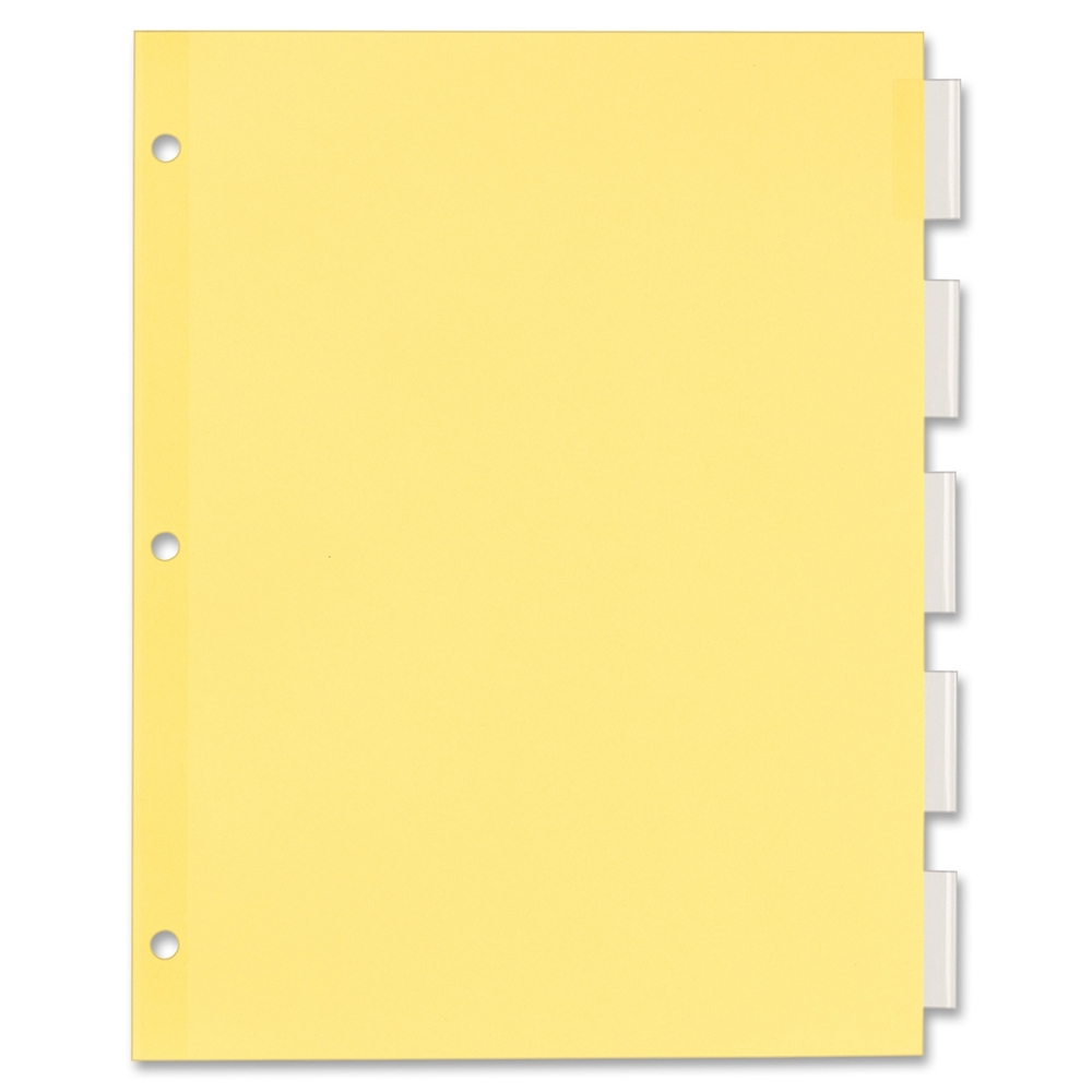 Avery Office Essentials Econ Insertable Tab Dvdrs 5 X