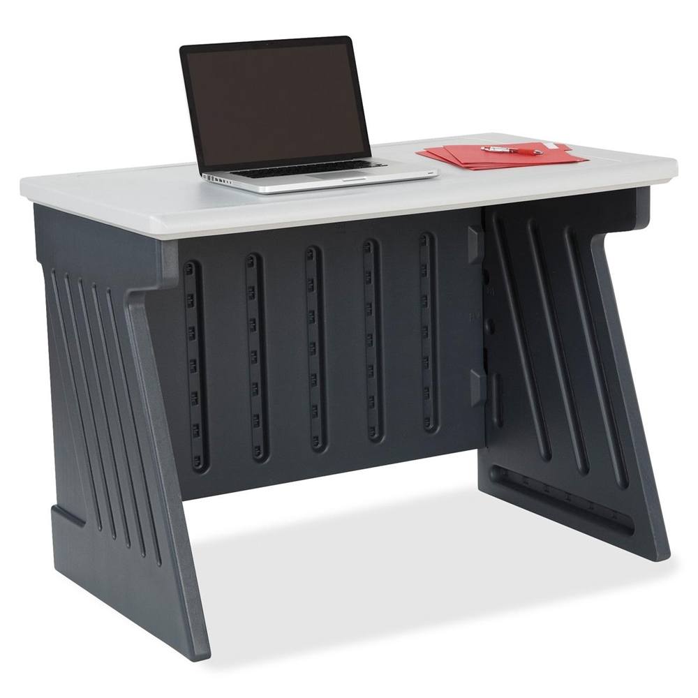 Iceberg Snapease Computer Desk 42 Quot Length Charcoal Silver
