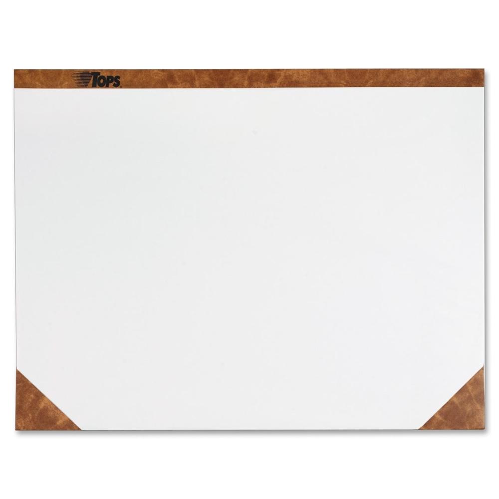 Tops Plain Paper Desk Pads 22 Quot Width X 17 Quot Depth 50