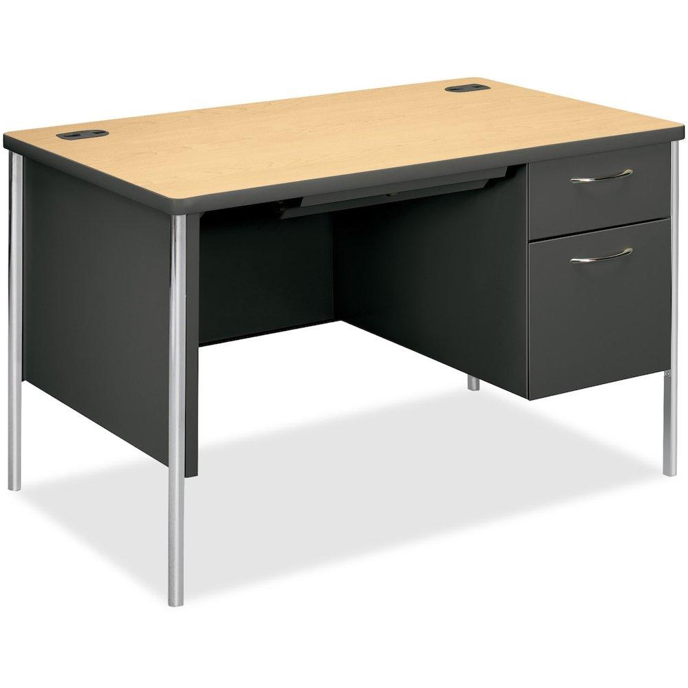 Hon Mentor Compact Right Pedestal Desk Rectangle Top 2