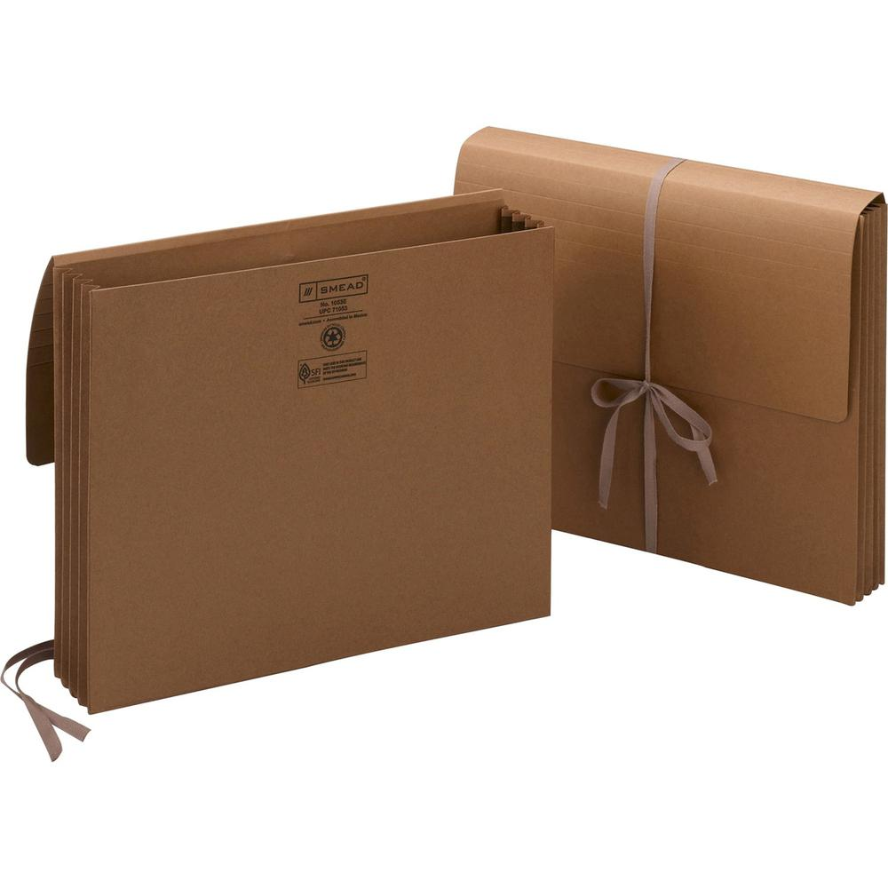 """Smead Letter Recycled File Wallet - 8 1/2"""" x 11"""" - 3 1/2"""" Expansion - Redrope - Redrope - 30% - 1 Each. Picture 1"""