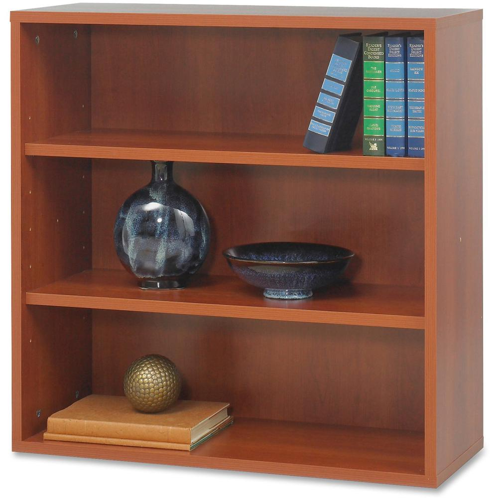 "Safco Après Modular Storage Open Bookcase - 29.8"" x 11.8"" x 29.8"" - 2 x Shelf(ves) - 75 lb Load Capacity - Cherry - Wood. Picture 2"