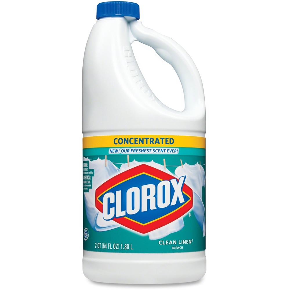 Clorox concentrated bleach liquid solution gal for Bleaching concrete driveway