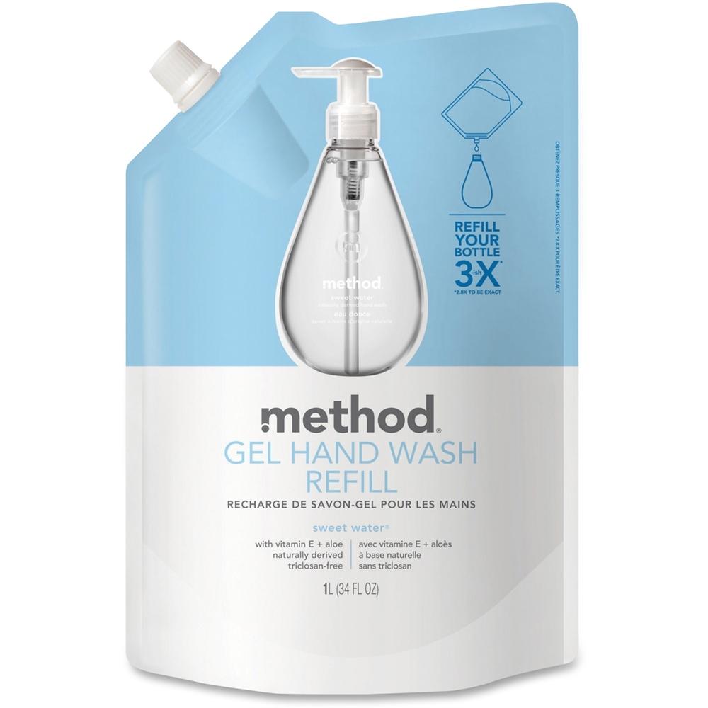 Method Sweet Water Gel Hand Wash Refill - Sweet Water Scent - 34 fl oz