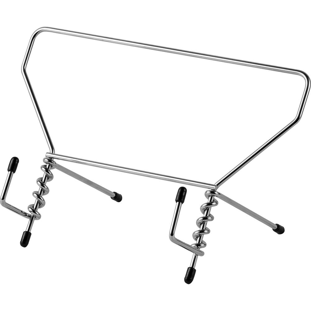 """Study Stand - 5.5"""" Height x 9.5"""" Width x 6"""" Depth - Chrome - Steel. Picture 1"""
