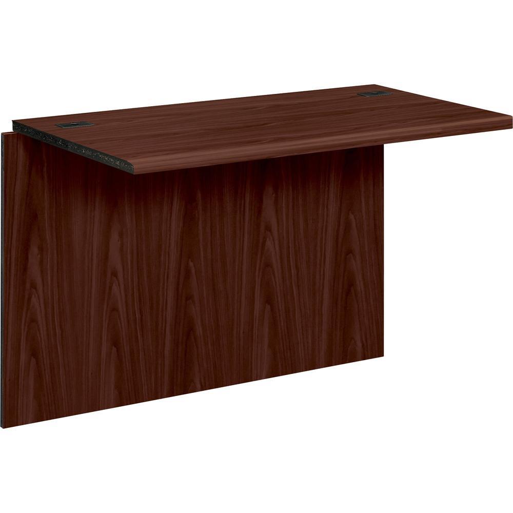 "HON 10700 Series Bridge - 42"" x 24"" x 29.5"" - Waterfall Edge - Material: Wood - Finish: Laminate, Mahogany. Picture 1"