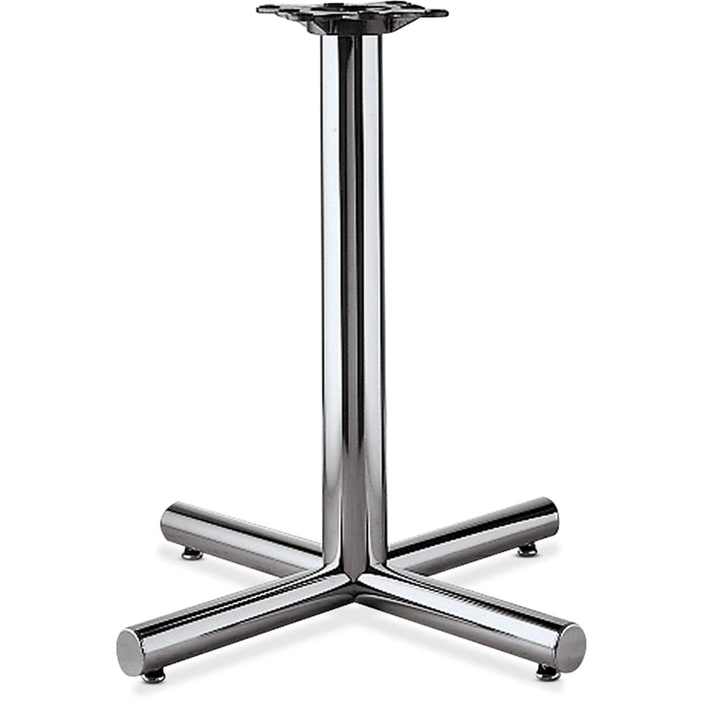 """HON Hospitality Table X-Base - 26"""" Height x 26"""" Width - Assembly Required - Chrome. Picture 1"""