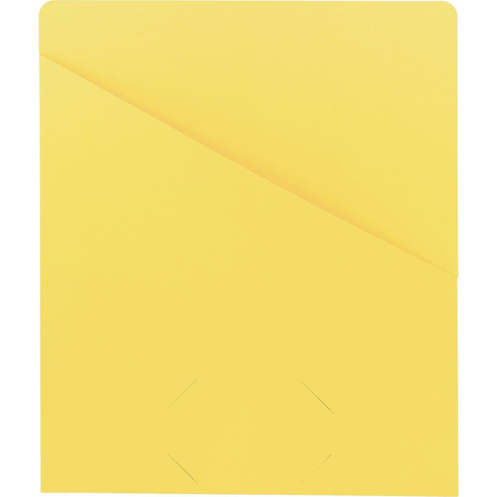 """Smead Organized Up Slash-Style File Jackets - Letter - 8 1/2"""" x 11"""" Sheet Size - 11 pt. Folder Thickness - Yellow - 1.49 lb - Recycled - 25 / Pack. Picture 1"""