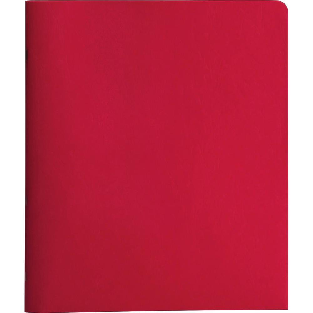 "Smead Letter Recycled Pocket Folder - 8 1/2"" x 11"" - 3 Fastener(s) - 1/2"" Fastener Capacity for Folder - 2 Internal Pocket(s) - Red - 10% - 25 / Box. Picture 1"