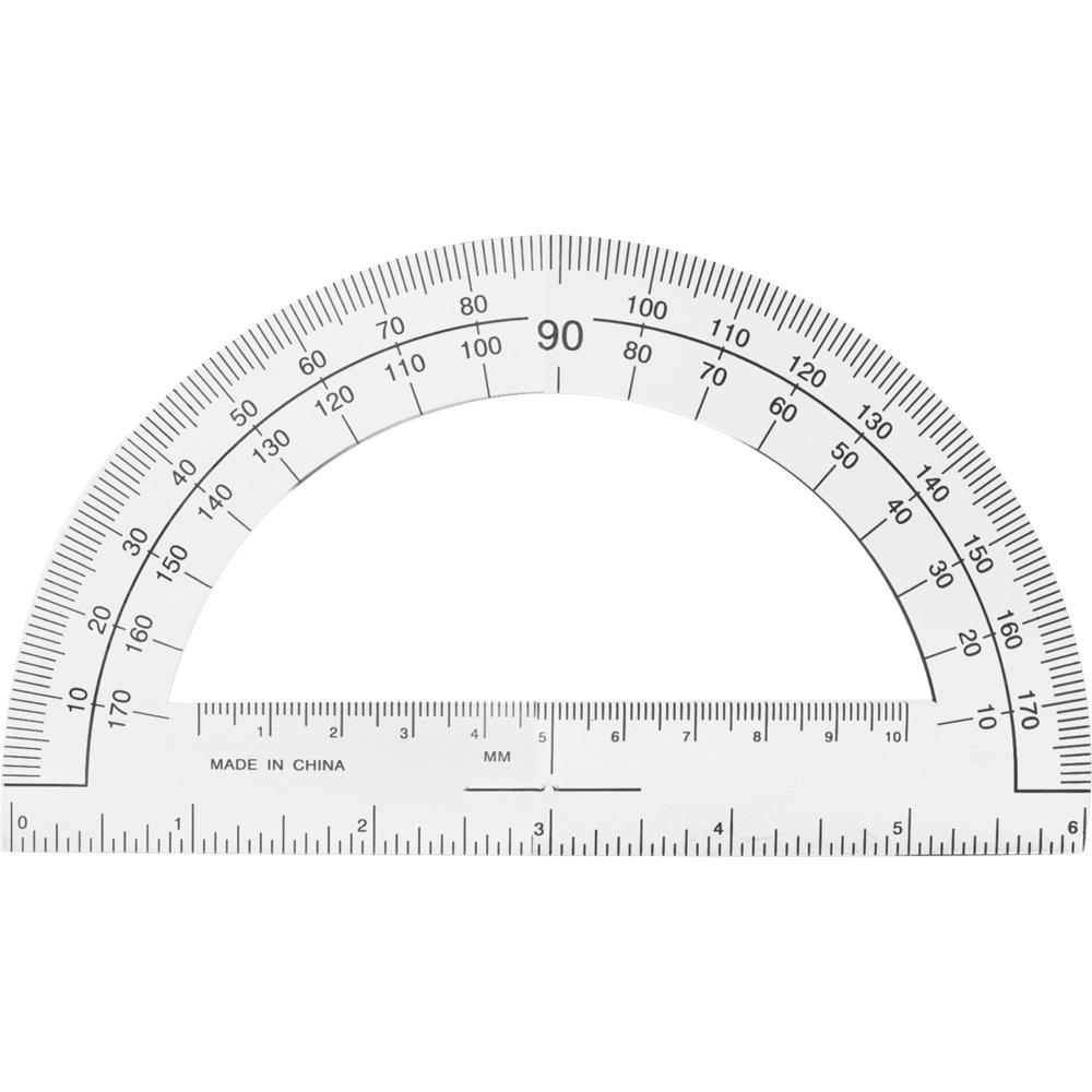 Sparco Professional Protractor Plastic Clear