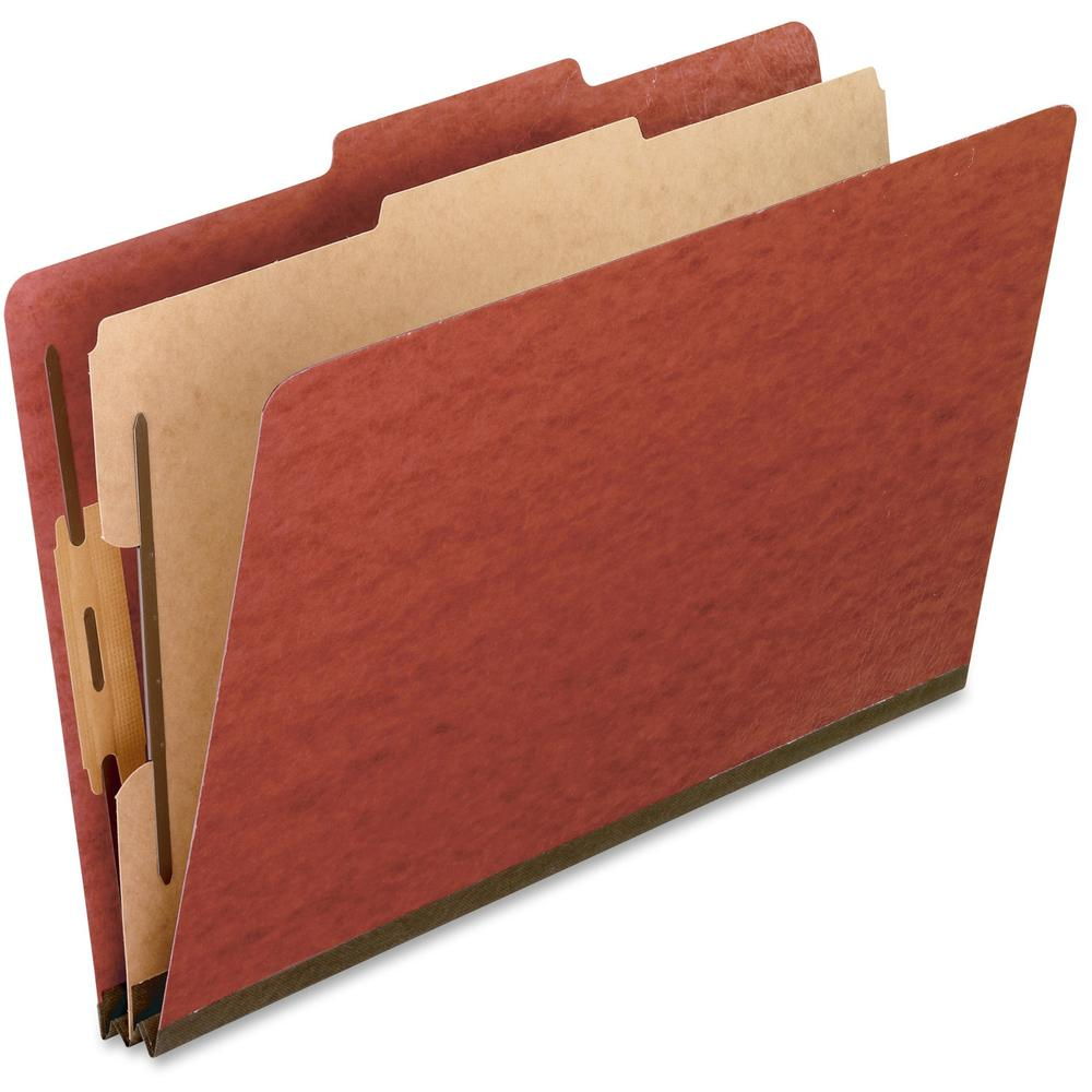 "Pendaflex Legal Size Pressboard Classification Folders - Legal - 8 1/2"" x 14"" Sheet Size - 2"" Expansion - 4 Fastener(s) - 2"" Fastener Capacity for Folder, 1"" Fastener Capacity for Divider - 2/5 Tab Cu. Picture 1"