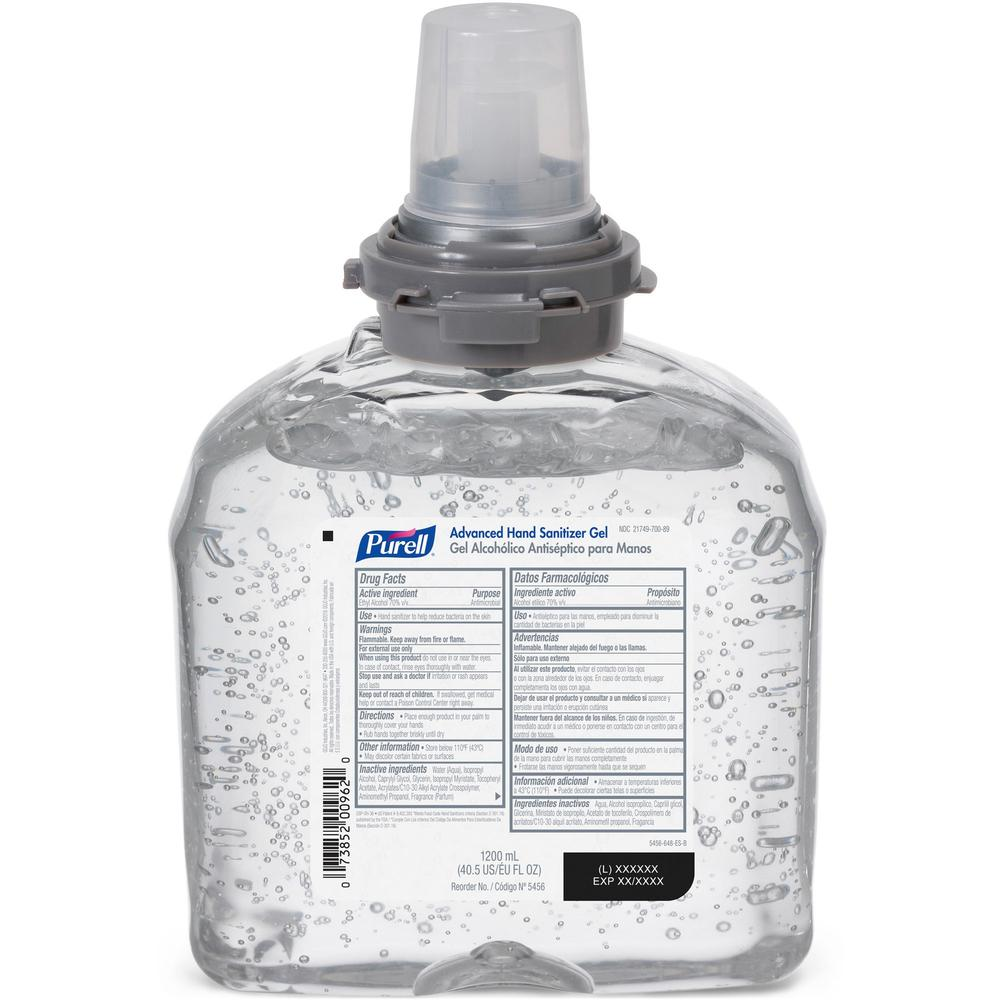 PURELL® Sanitizing Gel Refill - 40.6 fl oz (1200 mL) - Kill Germs - Hand, Skin - Clear - 1 Each. Picture 1