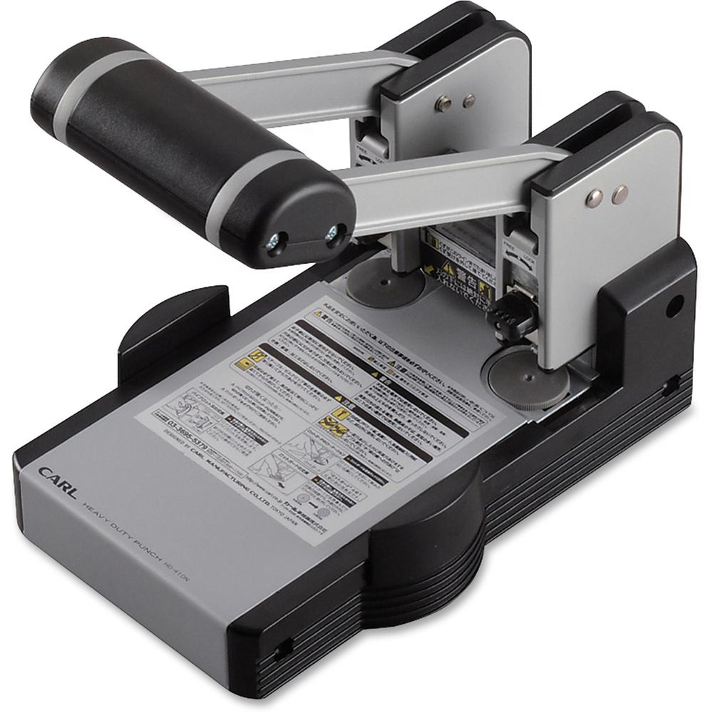 """CARL XHC2100 Extra Heavy-duty Two Hole Punch - 2 Punch Head(s) - 100 Sheet Capacity - 1/4"""" Punch Size - Blue. Picture 1"""