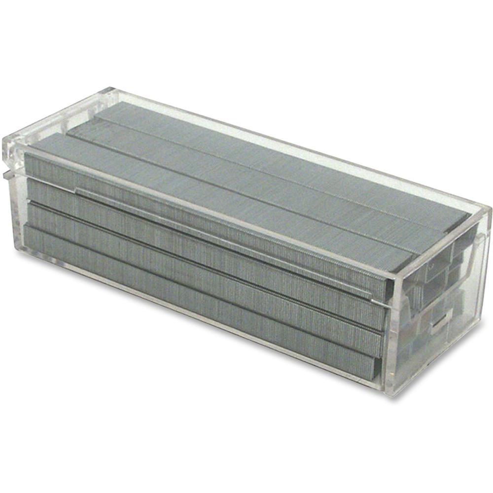 "Bostitch Standard Premium Staples - 210 Per Strip - Standard - 1/4"" Leg - Chisel Point - Silver - High Carbon Steel - 5.1"" Height x 1.8"" Width1.3"" Length - 5000 / Box. Picture 1"