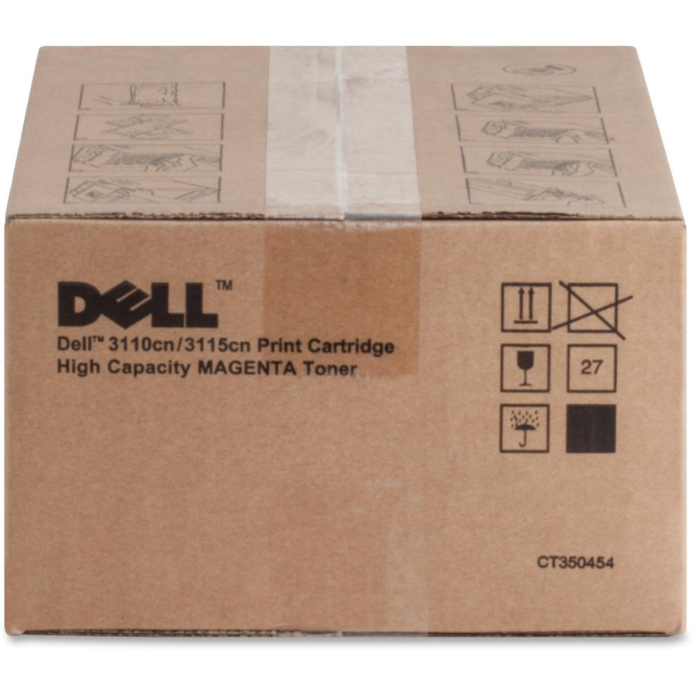 Dell Toner Cartridge - Laser - High Yield - 8000 Pages - Magenta - 1 Each. Picture 1