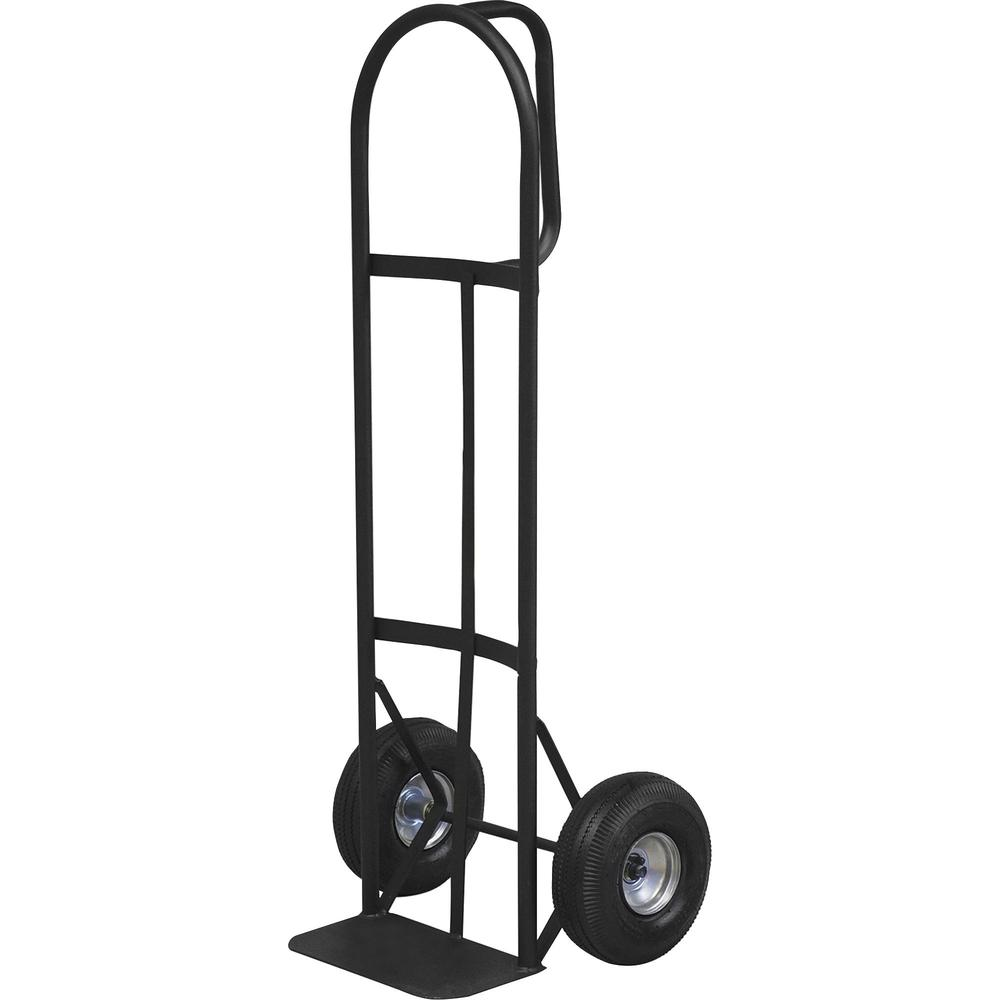 """Sparco Heavy-Duty D-Handle Hand Truck - D-shaped Handle - 800 lb Capacity - 10"""" Caster Size - x 19"""" Width x 20"""" Depth x 50"""" Height - Charcoal Gray - 1 Each. Picture 1"""